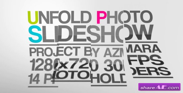 Unfold Photo Slideshow - Project for After Effects (Videohive)