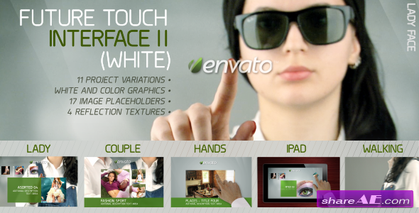 Future Touch Interface II (White) - Project for After Effects (VideoHive)