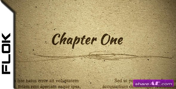 Chapter One - Project for After Effects (VideoHive)