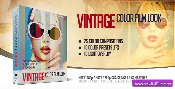 Vintage Color Film Look - Project for After Effects (Videohive)