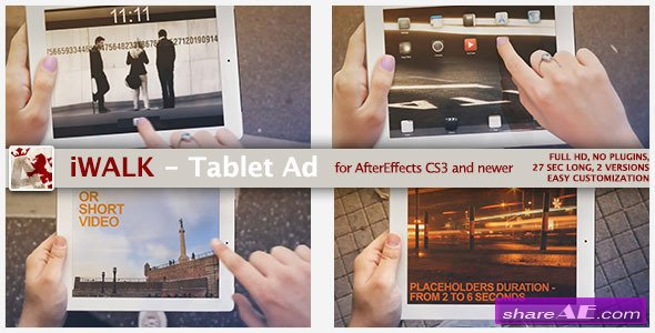 iWalk - Tablet Ad - Project for After Effects (Videohive)