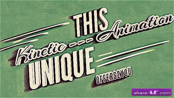 Kinetic Typography, Vintage Retro Style - Project for After Effects (Videohive)