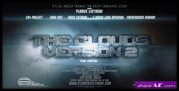 The Clouds 2 (Two Bonus Logo Reveals) - Project for After Effects (Videohive)