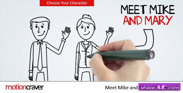 Meet Mike&Mary Whiteboard - After Effects Project (Videohive)