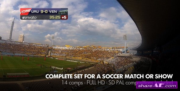 Live Soccer Broadcast - Project for After Effects (Videohive)