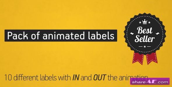 Animated Labels Pack- Project for After Effects (Videohive)