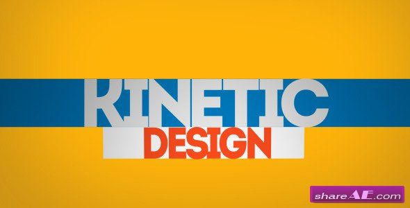 Kinetic Typo - After Effects Project (Videohive)