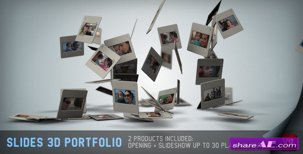 Slides 3D - Portfolio And Opening - Project for After Effects (Videohive)