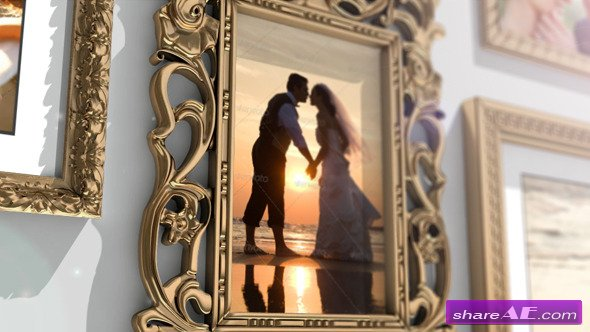 Golden Frames Photo Gallery - Project for After Effects (Videohive)