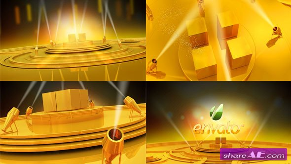 Gold stage - Project for After Effects (Videohive)