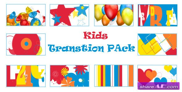 Motion Graphics - Kids Transition Pack (VideoHive)
