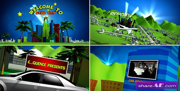 Cartoon Star City - After Effects Project (Videohive)