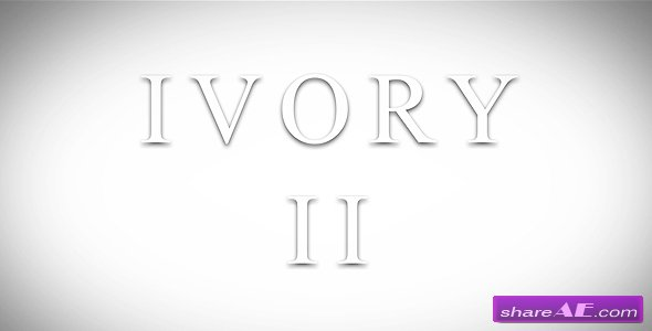 Ivory 2 - Project for After Effects (Videohive)