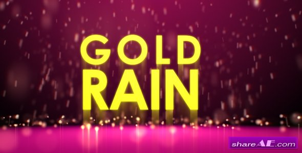 Gold rain - Project for After Effects (Videohive)