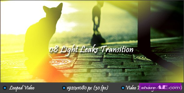 Motion Grafics - Light Leaks Transition (Videohive)