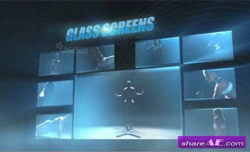 GlassScreens Pack - After Effects Project (Revostock)