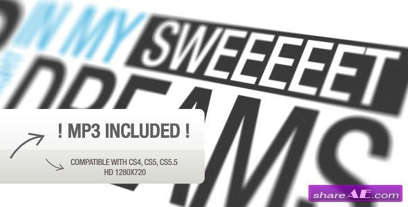 VideoHive Close Your Eyes Typography - After Effects Project
