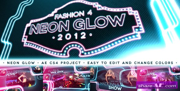 Videohive Fashion 4 - Neon Glow  After Effects Project