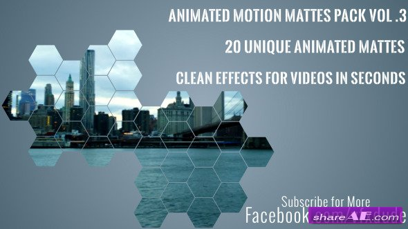 Motion Graphic - Clean Animated Motion Mattes Pack 3 (Videohive)
