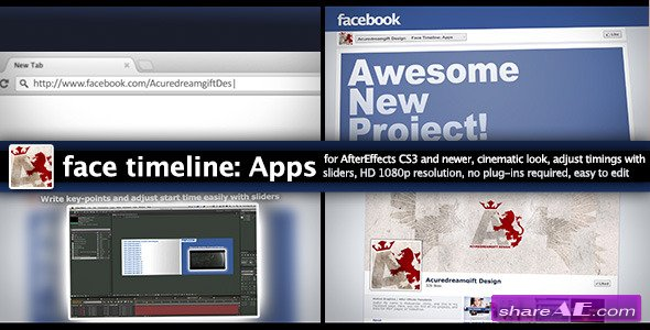 Face Timeline: Apps - After Effects Project (Videohive)