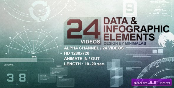 Motion Graphics - 24 Videos Data & Infographic Elements (Videohive)