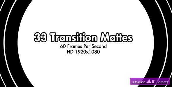 Motion Graphic - 33 HD Transition Mattes 60fps (VideoHive)