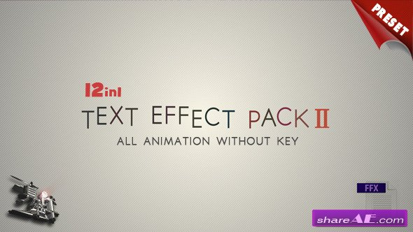 Text FX Pack II - After Effects Project (Videohive)