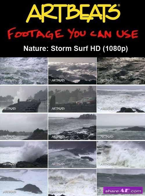 Artbeats - Nature: Storm Surf HD (1080p)
