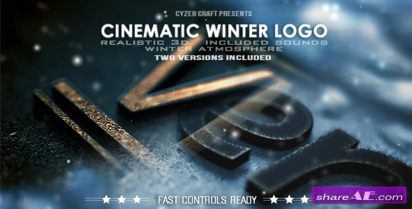 Videohive Cinematic Winter Logo - After Effects Project