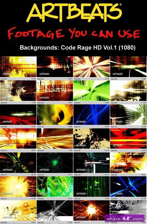Artbeats - Backgrounds: Code Rage HD Vol.1 (1080)