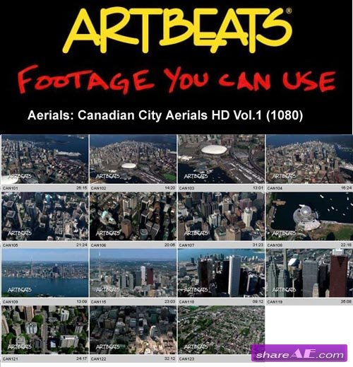 Artbeats - Aerials: Canadian City Aerials HD Vol.1 (1080)