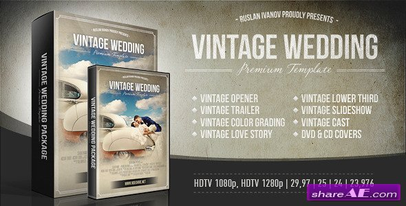 Vintage Wedding Package - After Effects Project (Videohive)