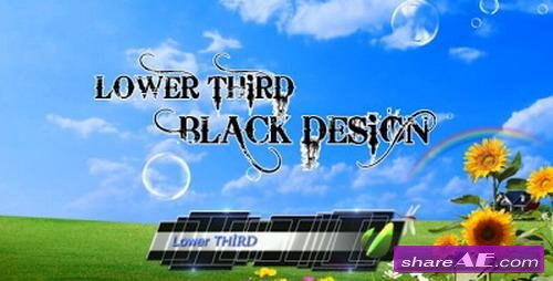 Lower Third Black Design - After Effects Project (Videohive)
