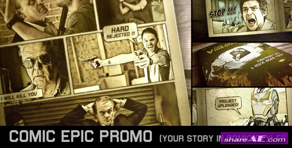 Comic Epic Promo - Project for After Effects (Videohive)