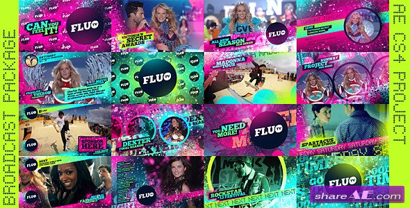 Fluo TV - Project For After Effects (Videohive)