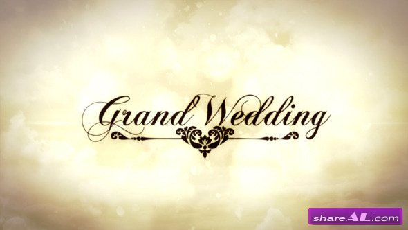 Grand Wedding After Effects Project Videohive 187 Free