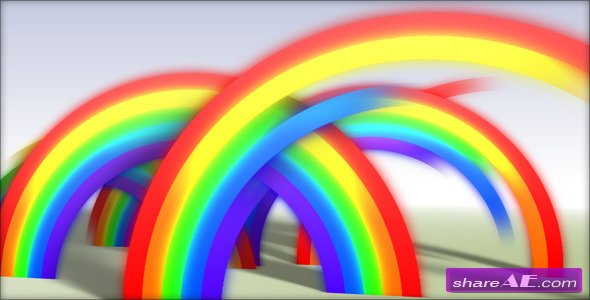 Rainbow Reveal - After Effects Project (VideoHive)