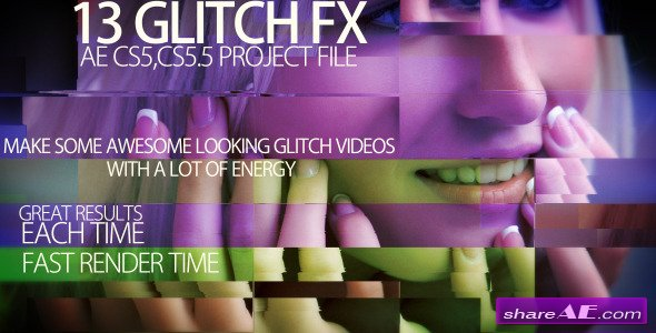 Glitch Trailer - After Effects Project (Videohive) » free after