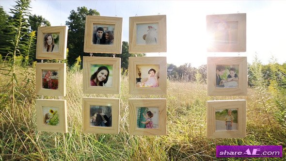 Hanging Wood Frames Gallery - After Effects Project (Videohive)