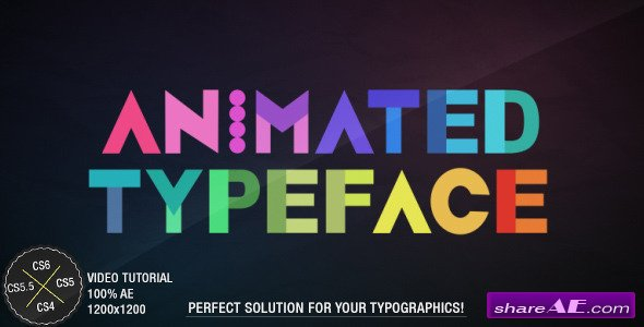 Animated Typeface - After Effects Project (Videohive)