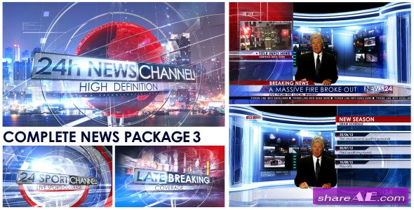 Broadcast Design - Complete News Package 3 - After Effects Project (Videohive)
