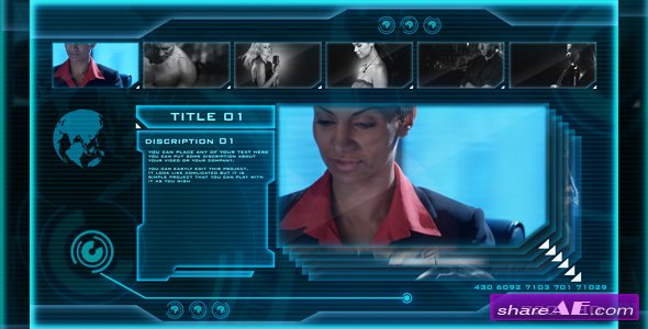 HIGH TECH OS (sci-fi video display) - After Effects Project (Videohive)