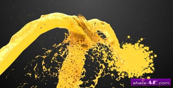 Paint Splash Logo Reveal - After Effects Project (Videohive)