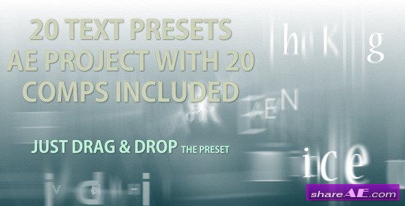 Text Presets - 20 text animation presets - After Effects Project (Videohive)