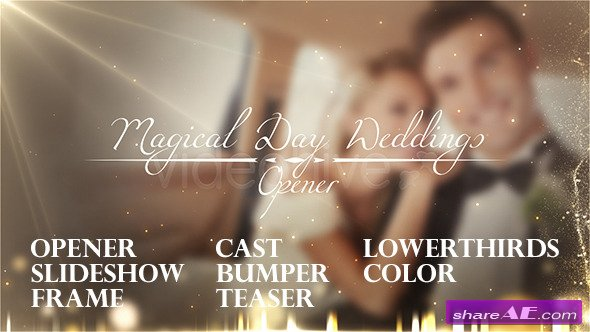 Magical Day Weddings Pack - After Effects Project (Videohive)
