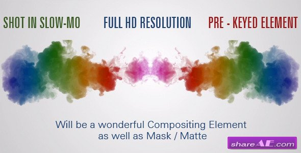 Twin Colorful Ink, Clouds, Smoke in Water Mask - Stock Footage (Videohive)