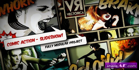 Videohive Photo Album Comic Book