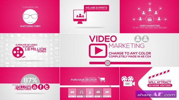 Online Video Marketing Intro - After Effects Project