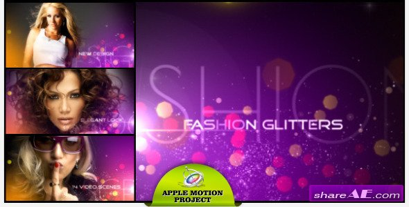 fashion glitters - apple motion template (videohive) » free after, Powerpoint templates
