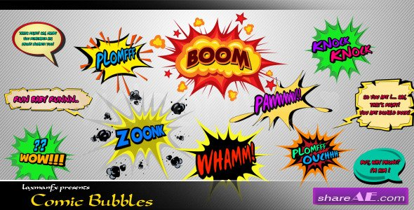 Comic Bubbles After Effects Project Videohive 187 Free